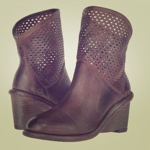 Bed Stu Dutchess wedge booties size 6.5